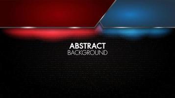 svart abstrakt geometrisk röd och blå bakgrund vektor