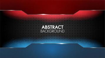 schwarzer abstrakter geometrischer eleganter roter und blauer Hintergrund