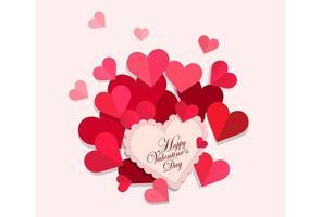 lycklig alla hjärtans dag gratulationskort vektor