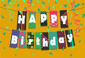 alles Gute zum Geburtstag bunte Grußkarte