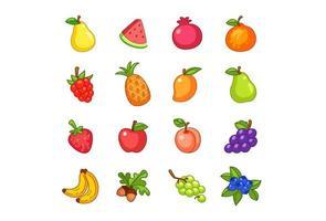 uppsättning frukter vektor
