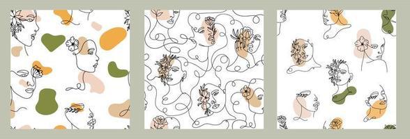 eine Linie Zeichnungsfläche mit Formen nahtlose Muster