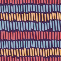 handritad färgmarkör ränder sömlöst mönster