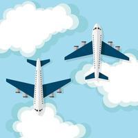 flygplan, resekoncept vektor