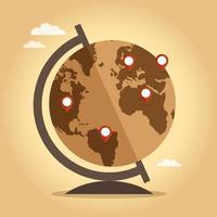 vintage världen världen vektor