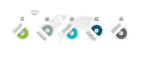 cirkulär steg-för-steg-infografisk design vektor