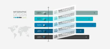 procentuell infografisk mall vektor