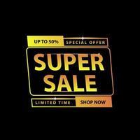 Luxus Super Sale Banner vektor