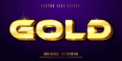 glänsande guld stil redigerbar text effekt