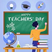 glad lärares dagaffisch vektor