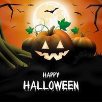 Halloween Kürbisse mit Vollmond