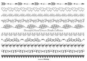 Nette Hand gezeichnete Art-Grenze Sammlung vektor