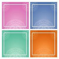 bakgrundsmall med mandala design