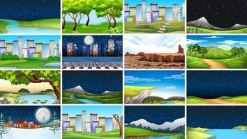 Reihe von Szenen in der Natur vektor