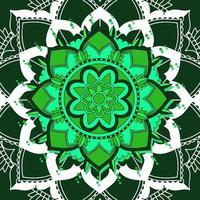 Mandalamuster auf dunkelgrünem Hintergrund