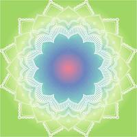 Mandalamuster auf lindgrünem Hintergrund