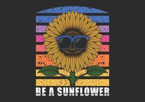 eine Sonnenblumenbrille Illustration sein vektor