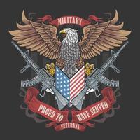 amerikansk örn veteran emblem vektor