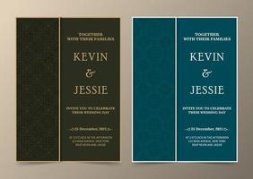 elegantes Einladungskarten-Design im Vintage-Stil vektor