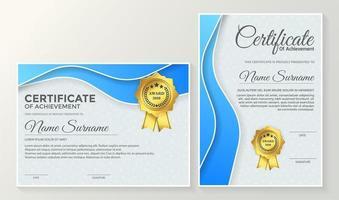 medlemsbevis bästa utmärkelsen diplomuppsättning vektor