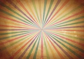 Gamla Grunge Sunburst Bakgrund vektor