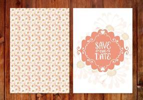 Blom- bröllop spara datumkortet vektor