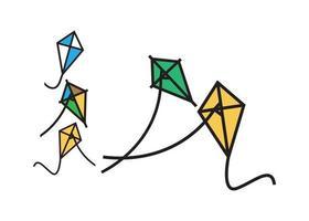 Drachenfliegenset vektor