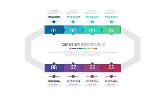 Vorlage für 8 Optionen Zyklusdiagramm