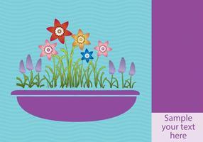 Frühlingsblumen im Pflanzerhintergrund