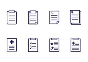 Verschreibungspflichtige Pad Icons vektor