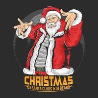 Weihnachtsmann im Hip-Hop-Tanzstil vektor