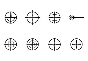 Laser-Tag-Icons vektor