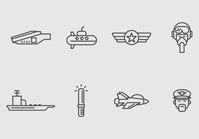 Flygplansbärare Ikon vektor