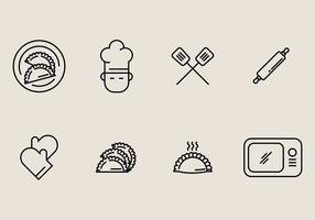 Empanadas ikon vektor