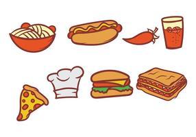 Hand gezeichneten Lebensmittel Vektor Set