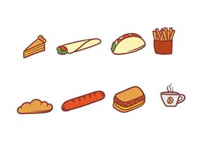 Set von Lebensmittel Vektor Icons