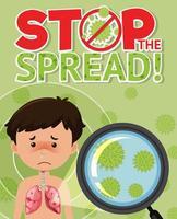 Stoppen Sie das verbreitete Coronavirus-Zeichen