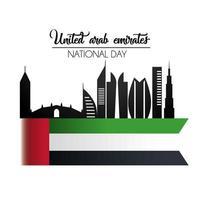 Förenade Arabemiraten nationaldag firande vektor