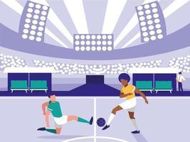 fotbollsstadion scen vektor