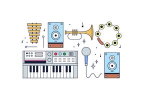 Kostenlose Musikinstrumente Vektor