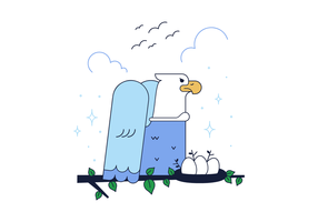 Freier Adler Vektor