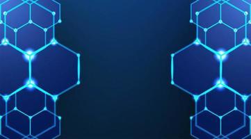 sechseckiger dunkelblauer Hintergrund vektor