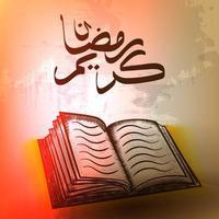 Koranens heliga bok på stativet
