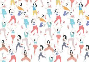Zumba Tanzen Muster Vektor