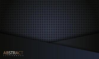realistische abgewinkelte Schichten aus dunklem Kohlefaserdesign vektor