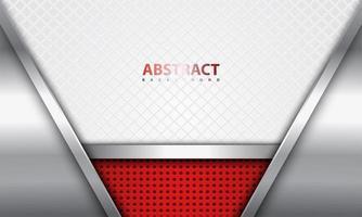 realistisches Design in Stahl und Rot mit Zaunmuster vektor