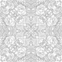 künstlerisches dekoratives Blumenmandala vektor