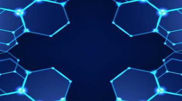 moderner sechseckiger Hintergrund vektor