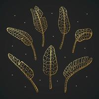växt doodle uppsättning element vektor