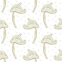 Gold Blumen nahtloses Muster vektor